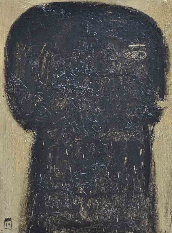 black head, AOC, 30X40cm, 2014